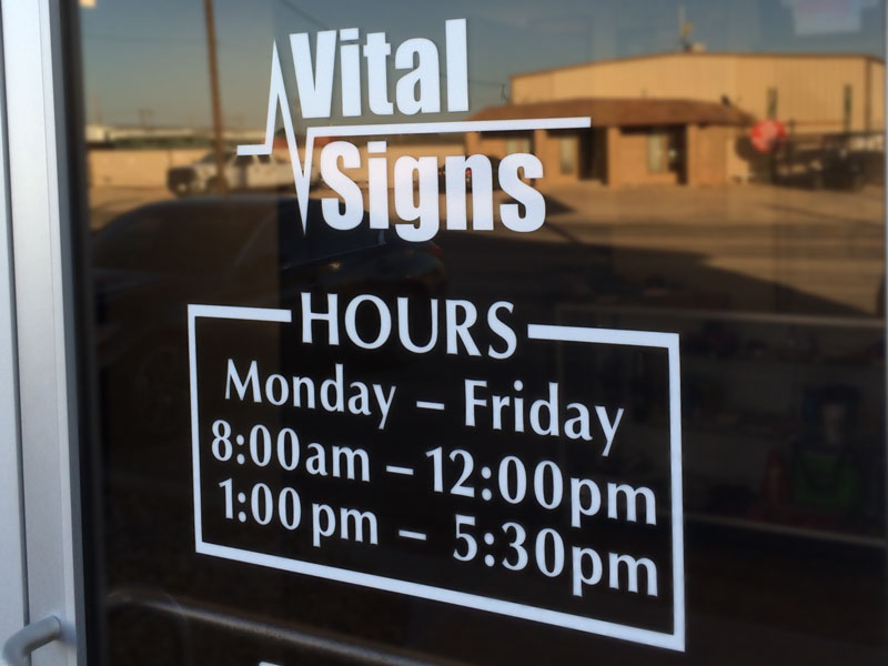 Vinyl Decals And Lettering Vital Signs Odessa Midland